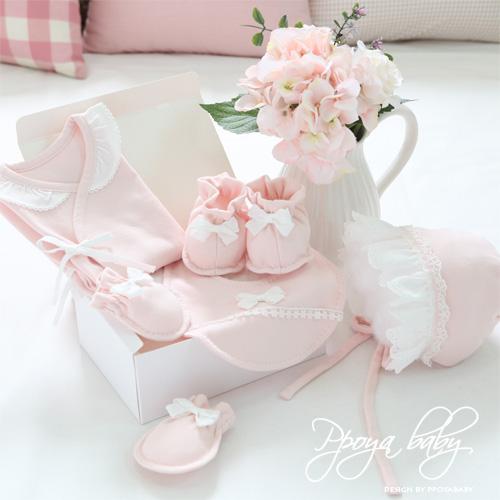 오가닉 핑크레이스 배냇저고리 Set DIY(한여름용)