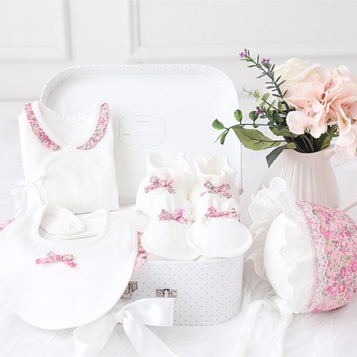 오가닉 리버티 Tatum 잔꽃무늬  배냇저고리 Set DIY(사계절)