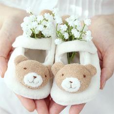 오가닉 아기곰 베이비신발 만들기 DIY