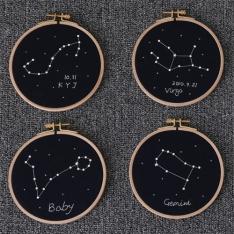 (탄생액자) 별자리 수틀 액자 DIY
