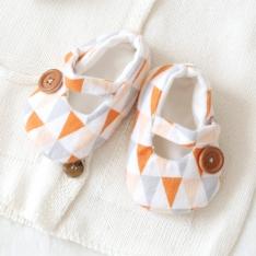 (태교바느질)북유럽 트라이앵글 신발 만들기 D.I.Y