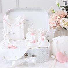 오가닉 아기원숭이 큐티 배냇저고리 만들기 Set DIY_핑크(사계절)