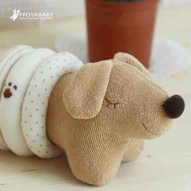 베이글 강아지 만들기 브라운 DIY