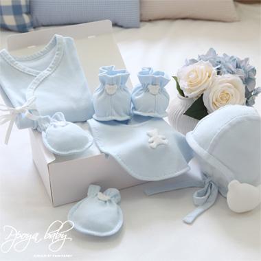 오가닉 블루 배냇저고리 Set DIY(사계절)